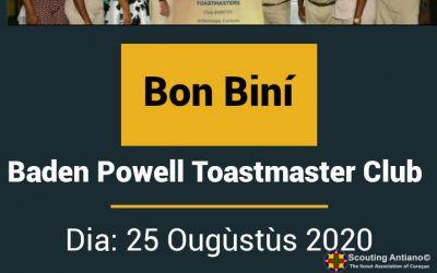 Invitashon pa Promé Reunion Edukativo di Baden Powell Toastmasters Club